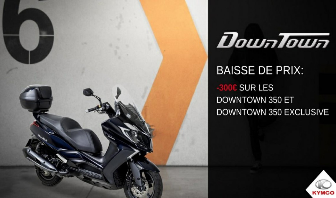 300€ offert sur le Downtown 350 ABS Exclusive